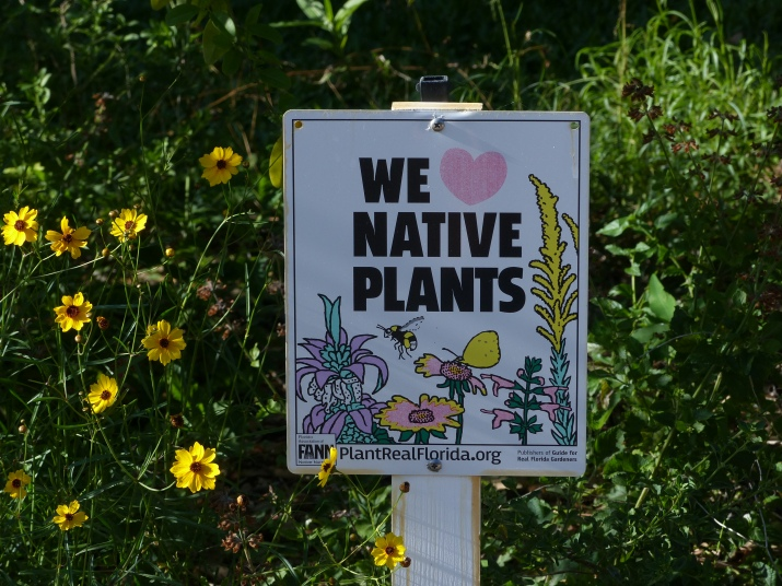 we love native plants sign